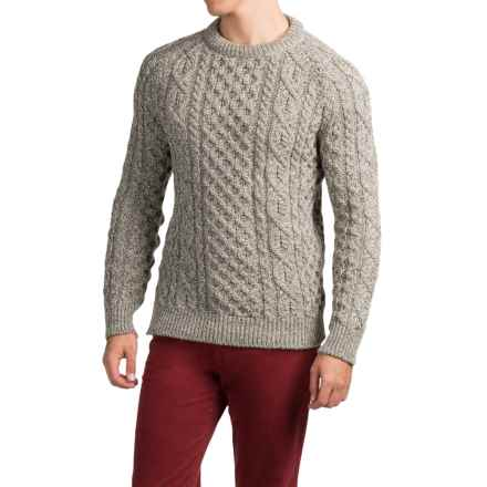 Peregrine by J. G. Glover Aran Sweater - Merino Wool (For Men) in Natural Twist - Closeouts