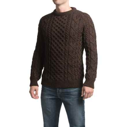 Peregrine by J. G. Glover Aran Sweater - Merino Wool (For Men) in Walnut - Closeouts