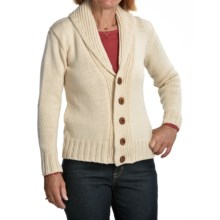 Peregrine by J. G. Glover Peruvian Merino Wool Cardigan Sweater - Shawl Collar (For Women) in Ecru - Closeouts