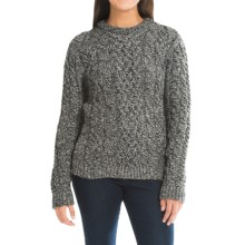 Peregrine by J.G. Glover Aran Cable-Knit Sweater - Merino Wool, Crew Neck (For Women) in Humbug - Closeouts