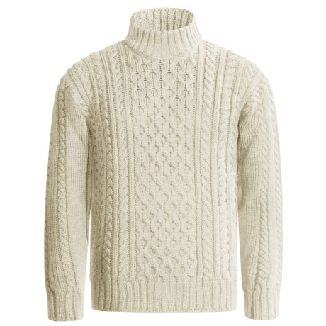 Peregrine by J.G. Glover Aran Cable Sweater - Merino Wool (For Men)