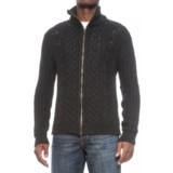 Peregrine by J.G. Glover Aran Full-Zip Sweater - British Merino Wool (For Men)