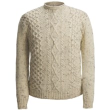 Peregrine by J.G. Glover Aran-Knit Sweater - British Wool (For Men) in Ecru Nep - Closeouts