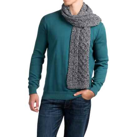 Peregrine by J.G. Glover Aran Scarf - Merino Wool (For Men) in Humburg - Closeouts