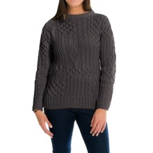 Peregrine by J.G. Glover Aran Sweater - Peruvian Merino Wool (For Women) in Mole Grey - Closeouts