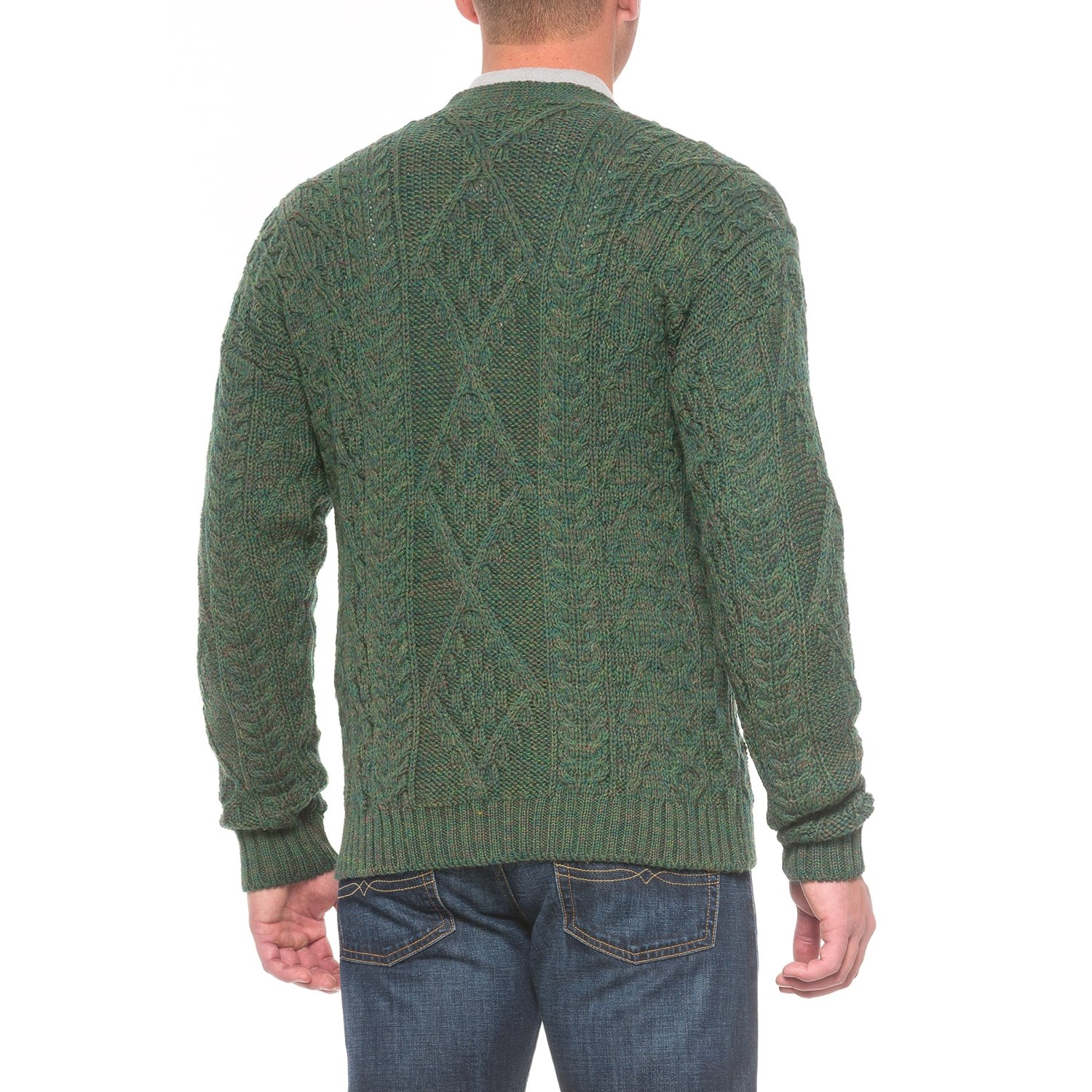 Peregrine by J.G. Glover Aran V-Neck Cardigan Sweater (For Men ...