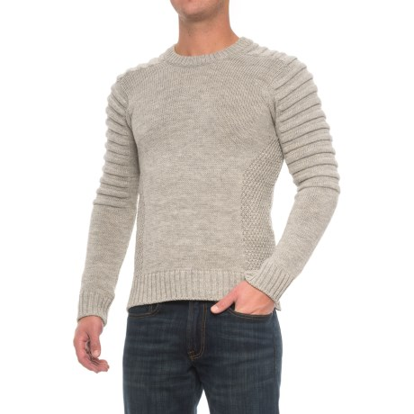 Peregrine by J.G. Glover Barlow Sweater - Merino Wool (For Men) in Light Grey