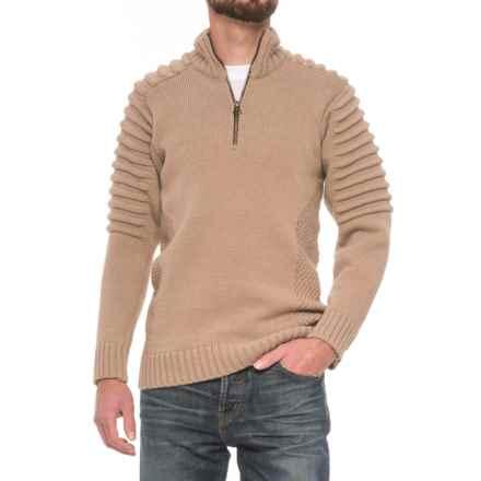 Peregrine by J.G. Glover Bowman Sweater - Merino Wool, Zip Neck (For Men) in Beige - Closeouts