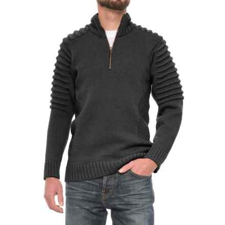 Peregrine by J.G. Glover Bowman Sweater - Merino Wool, Zip Neck (For Men) in Charcoal - Closeouts