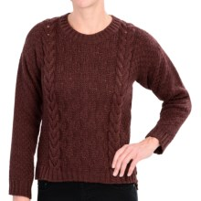 Peregrine by J.G. Glover Button Back Sweater - Merino Wool (For Women) in Shiraz - Closeouts