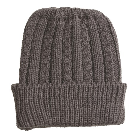 Peregrine by J.G. Glover Cable Hat - Merino-Alpaca Wool (For Women) in Mole Grey