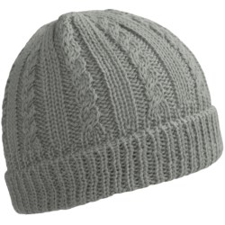 Peregrine by J.G. Glover Cable-Knit Beanie - Merino Wool (For Women) in Light Grey