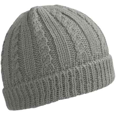 Peregrine by J.G. Glover Cable-Knit Beanie - Merino Wool (For Women) in Light Grey - Closeouts
