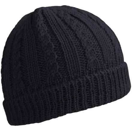 Peregrine by J.G. Glover Cable-Knit Beanie - Merino Wool (For Women) in Navy - Closeouts