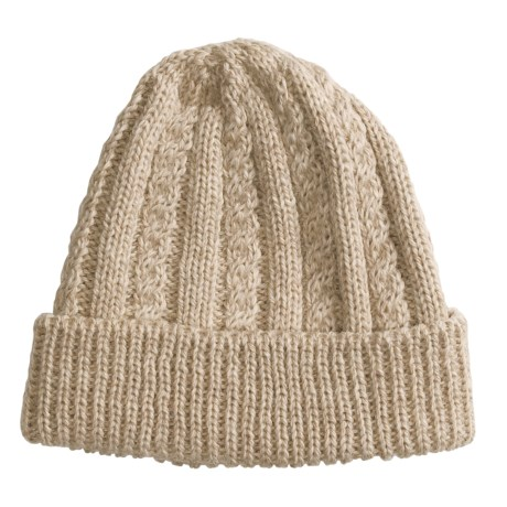 Peregrine by J.G. Glover Cable-Knit Hat - Merino Wool (For Women) in Beige