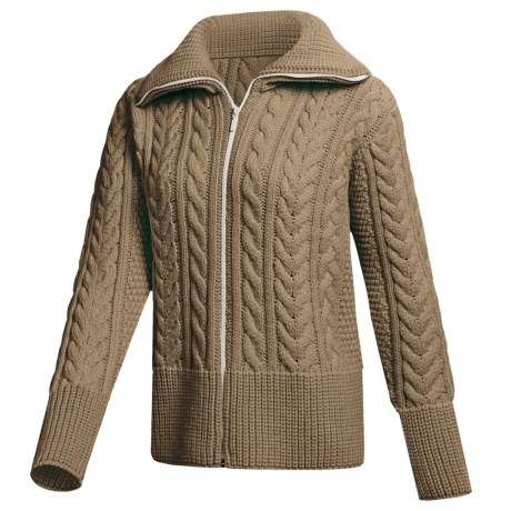 Peregrine by J.G. Glover Cardigan Sweater - Peruvian Merino Wool (For Women) in Taupe