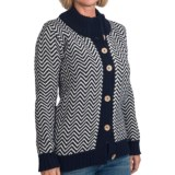 Peregrine by J.G. Glover Chevron Cardigan Sweater - Peruvian Merino Wool (For Women)