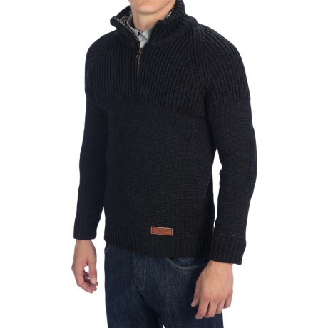 Peregrine by J.G. Glover Chunky Merino Wool Sweater (For Men)