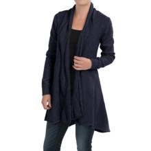 Peregrine by J.G. Glover Clifton Cardigan Sweater - Peruvian Merino Wool (For Women) in Navy - Closeouts