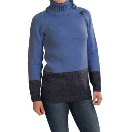 Peregrine by J.G. Glover Color-Block Sweater - Peruvian Merino Wool (For Women) in Denim/Navy - Closeouts