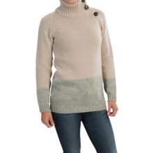 Peregrine by J.G. Glover Color-Block Sweater - Peruvian Merino Wool (For Women) in Dirty White/Grey - Closeouts