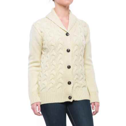Peregrine by J.G. Glover Corden Shawl Cardigan Sweater - Merino Wool (For Women) in Ecru - Closeouts