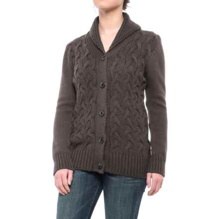 Peregrine by J.G. Glover Corden Shawl Cardigan Sweater - Merino Wool (For Women) in Mole - Closeouts