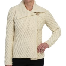 Peregrine by J.G. Glover Crossover Cardigan Sweater - Merino Wool (For Women) in Ecru - Closeouts