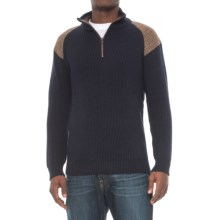 Peregrine by J.G. Glover Dave Sweater - Merino Wool, Zip Neck (For Men) in Navy - Closeouts