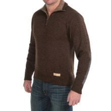 Peregrine by J.G. Glover Dave Sweater - Merino Wool, Zip Neck (For Men) in Walnut - Closeouts