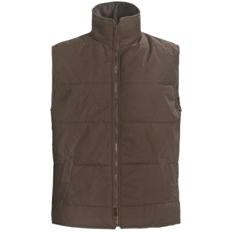 Peregrine by J.G. Glover Dry Waxed Cotton Vest (For Men) in Brown