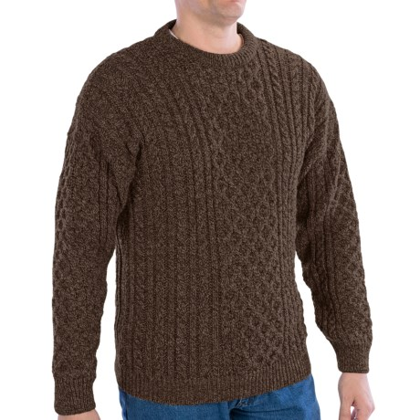 Peregrine by J.G. Glover English Wool Sweater (For Men) in Dark Brown