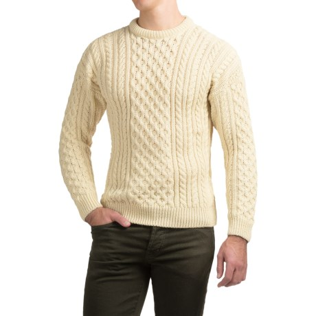 Peregrine by J.G. Glover English Wool Sweater (For Men) in Navy