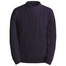 Peregrine by J.G. Glover English Wool Sweater (For Men) in Navy - Closeouts