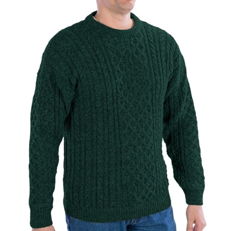 Peregrine by J.G. Glover English Wool Sweater (For Men) in Pine Forrest