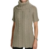 Peregrine by J.G. Glover Fancy Cable Sweater - Merino Wool, Cowl Neck (For Women)