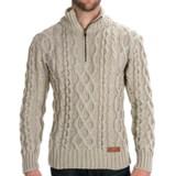 Peregrine by J.G. Glover Fisherman Sweater - Merino Wool, Zip Neck (For Men)