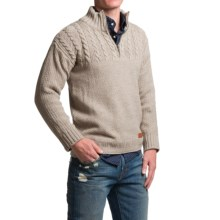 Peregrine by J.G. Glover Guernsey Sweater - Merino Wool, Zip Neck (For Men) in Beige - Closeouts