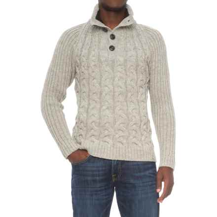 Peregrine by J.G. Glover Hamble Sweater - Merino Wool (For Men) in Light Grey - Closeouts