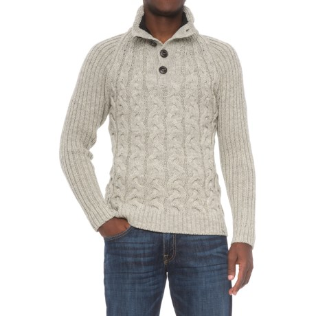 Peregrine by J.G. Glover Hamble Sweater - Merino Wool (For Men) in Light Grey