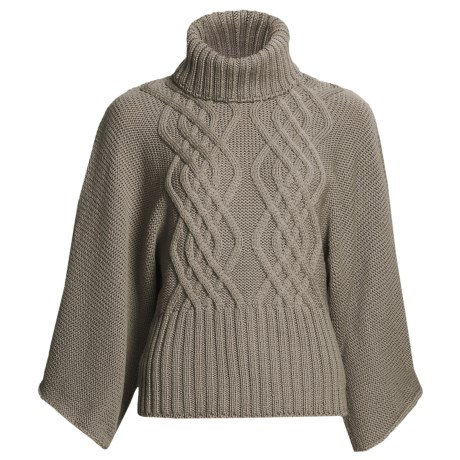 Peregrine by J.G. Glover Kimono Sweater - Merino Wool (For Women) in Taupe