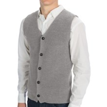 Peregrine by J.G. Glover Knit Waistcoat (For Men) in Light Grey - Closeouts