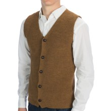 Peregrine by J.G. Glover Knit Waistcoat (For Men) in Wheat - Closeouts