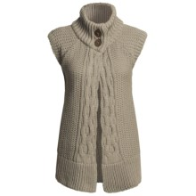 Peregrine by J.G. Glover Merino Wool Cardigan Sweater - Sleeveless (For Women) in Taupe - Closeouts