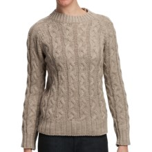 Peregrine by J.G. Glover Merino Wool Sweater - Cable Knit (For Women) in Beige - Closeouts