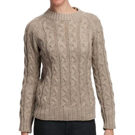 Peregrine by J.G. Glover Merino Wool Sweater - Cable Knit (For Women) in Beige