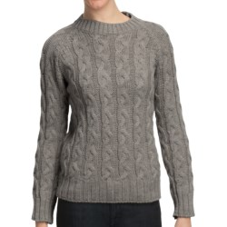 Peregrine by J.G. Glover Merino Wool Sweater - Cable Knit (For Women) in Light Grey