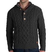 Peregrine by J.G. Glover Merino Wool Sweater - Chunky Cable (For Men) in Charcoal - Closeouts