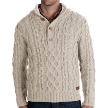 Peregrine by J.G. Glover Merino Wool Sweater - Chunky Cable (For Men) in Dirty White - Closeouts