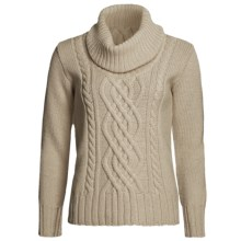 Peregrine by J.G. Glover Merino Wool Sweater - Cowl Neck (For Women) in Beige - Closeouts